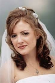 half up and half down wedding hairstyles