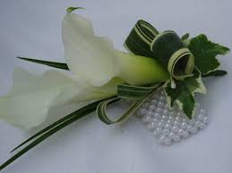 lily wrist corsage