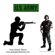 army stencil
