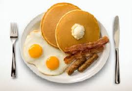 eggs and pancakes