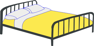 free clipart bed
