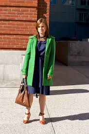 bright green coat