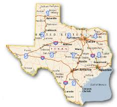 map of cities in texas