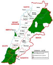 hezbollah map