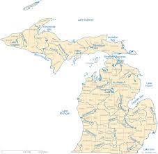 michigan lakes map