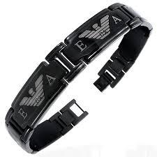 mens armani bracelets