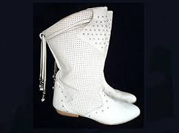 long white boots