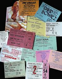 old concert tickets