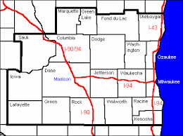 map of southern wisconsin