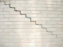 brick wall crack