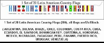 latin american country flags