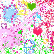 colorful hello kitty