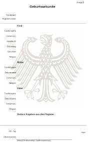 geburtsurkunde deutschland
