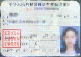 chinese driving licence