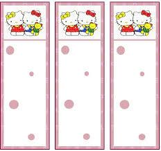 hello kitty bookmarks
