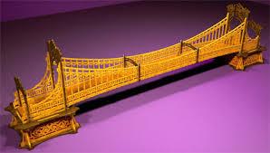 model suspension bridge
