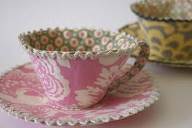 tea cup fabric