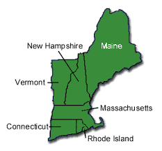 new england state map
