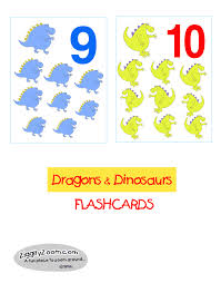 number flash card