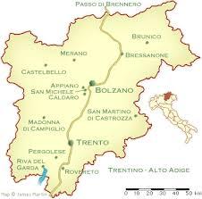 map of trentino