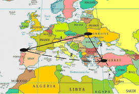 politicka karta evrope