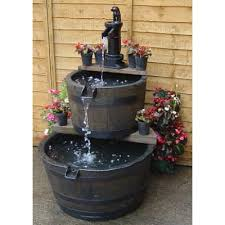 wooden water feature