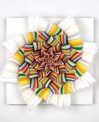 layered paper art