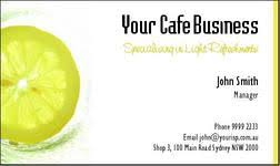 cafe business cards