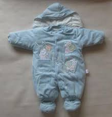 blue baby clothing
