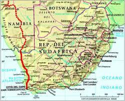 sud africa cartina