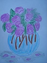 rysunki kwiatow
