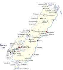 nz south island map