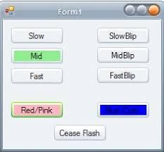 flashing button