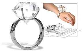 diamond ring paperweights