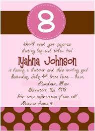 pink and brown polka dot invitations