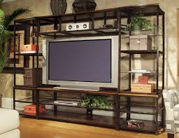 entertainment center shelves