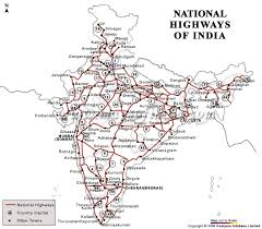 detail road map of india