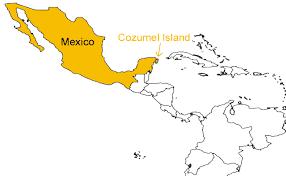 cozumel map mexico