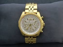 breitling gold watch