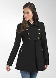 french connection arnas wool military coat