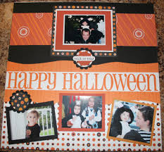 halloween scrapbook layout