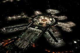 airports at night