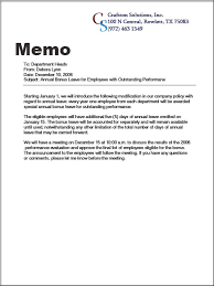 business memos samples