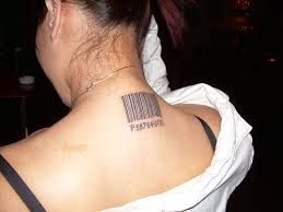 bar code tattoos