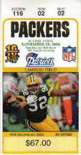 packers ticket