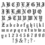free old english alphabet