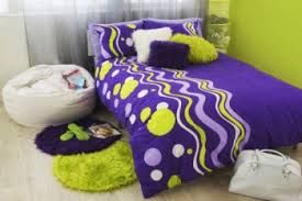 purple and green bedrooms