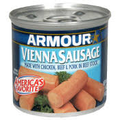 canned sausages