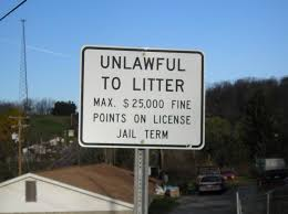 littering sign