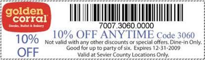 golden corral buffet coupons